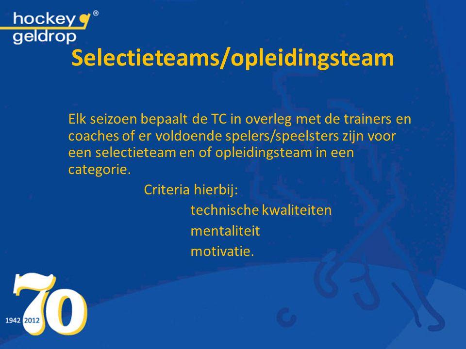 Selectieteams/opleidingsteam