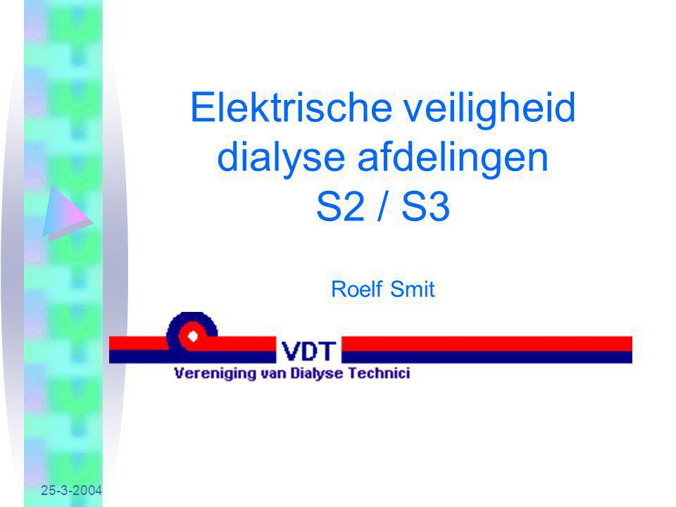 Elektrische veiligheid dialyse afdelingen S2 / S3 Roelf Smit