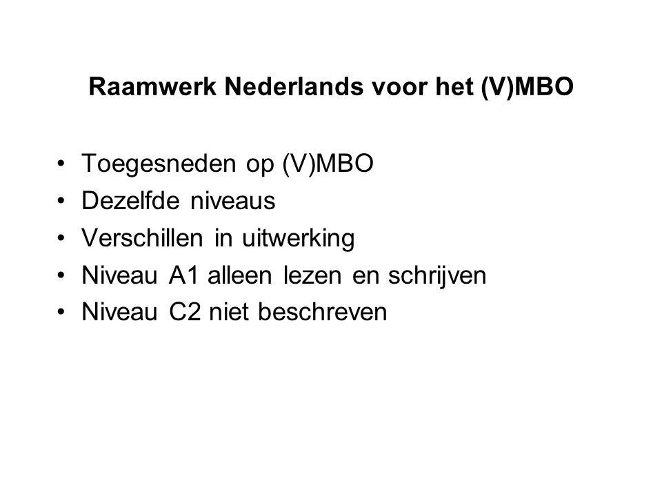 Raamwerk Nederlands voor het (V)MBO