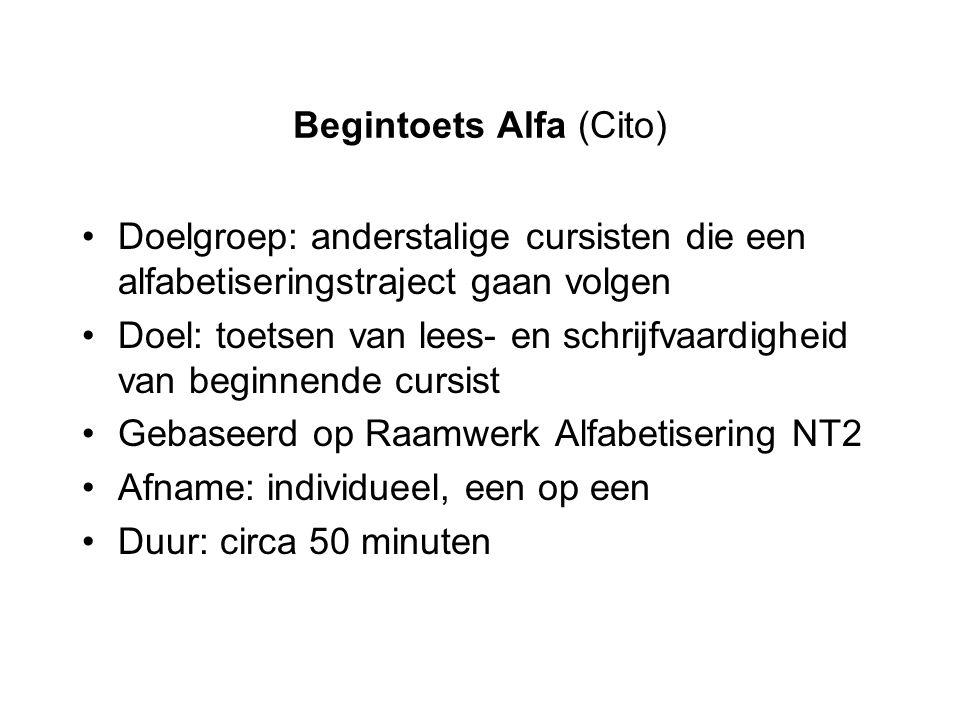 Begintoets Alfa (Cito)