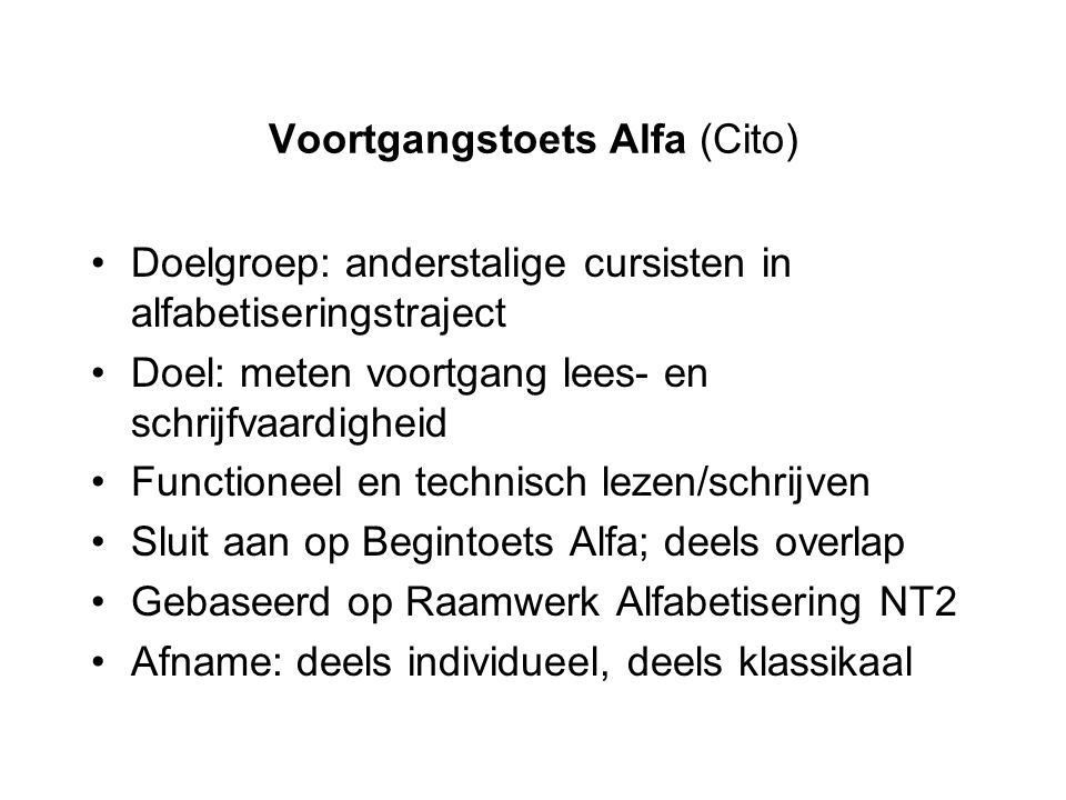 Voortgangstoets Alfa (Cito)