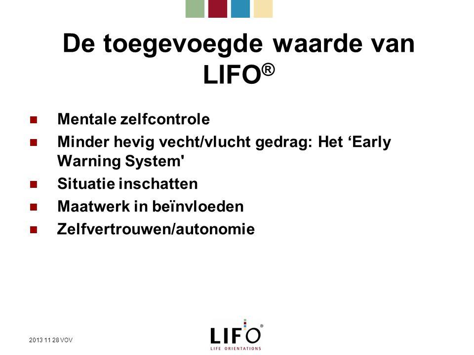 De toegevoegde waarde van LIFO®