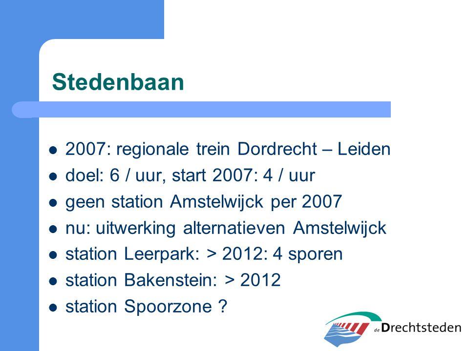 Stedenbaan 2007: regionale trein Dordrecht – Leiden