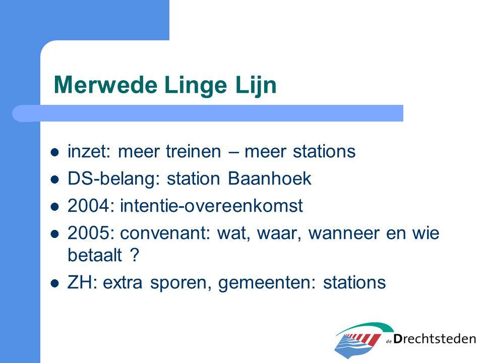 Merwede Linge Lijn inzet: meer treinen – meer stations