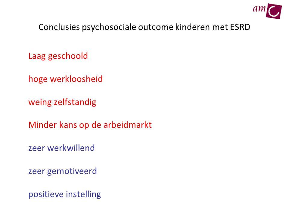 Conclusies psychosociale outcome kinderen met ESRD
