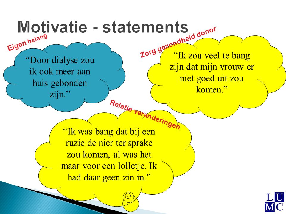 Motivatie - statements