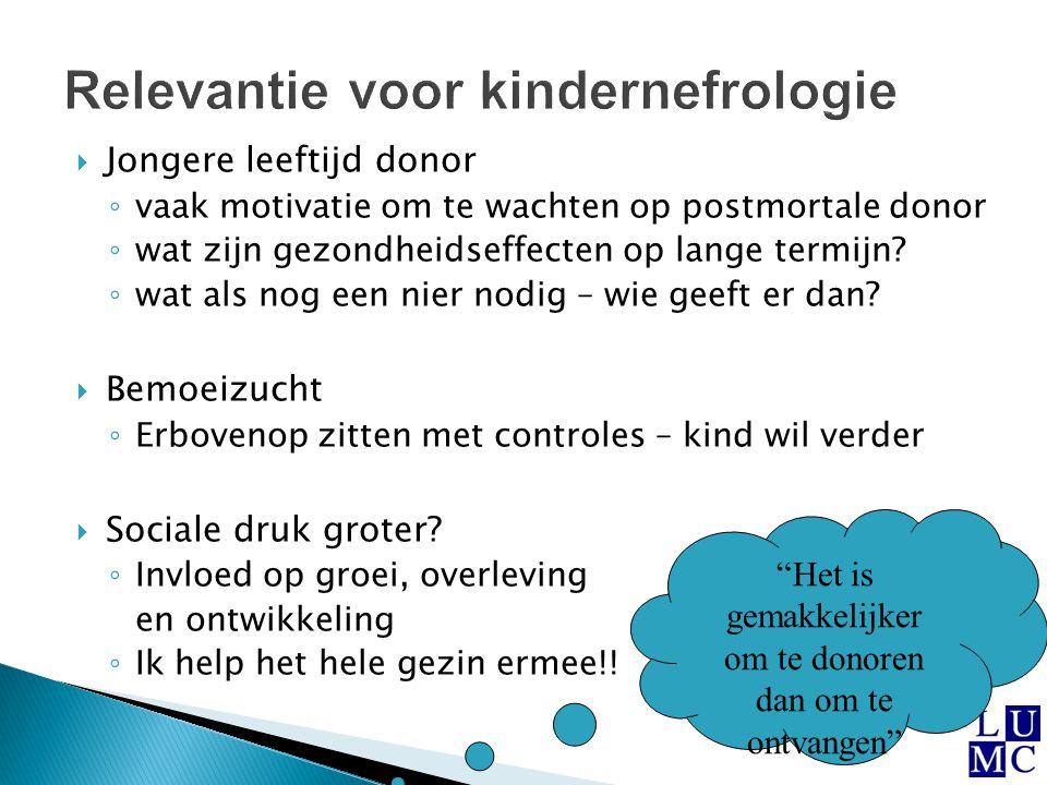 Relevantie voor kindernefrologie