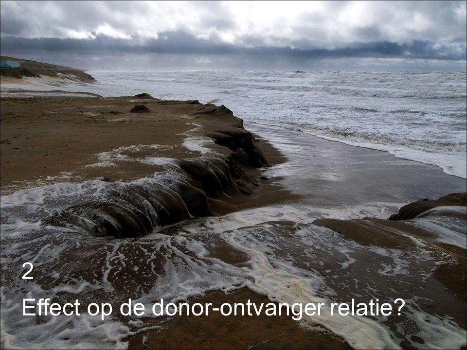 2 Effect op de donor-ontvanger relatie
