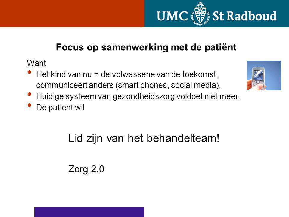 Focus op samenwerking met de patiënt