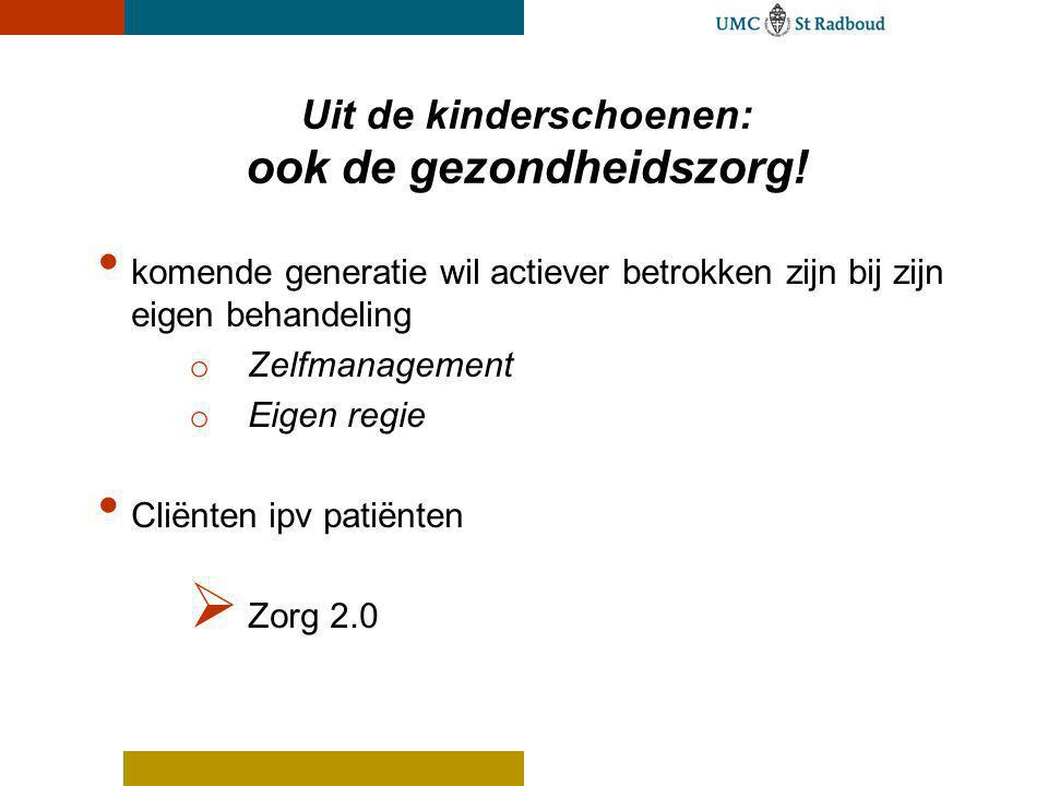 Uit de kinderschoenen: ook de gezondheidszorg!