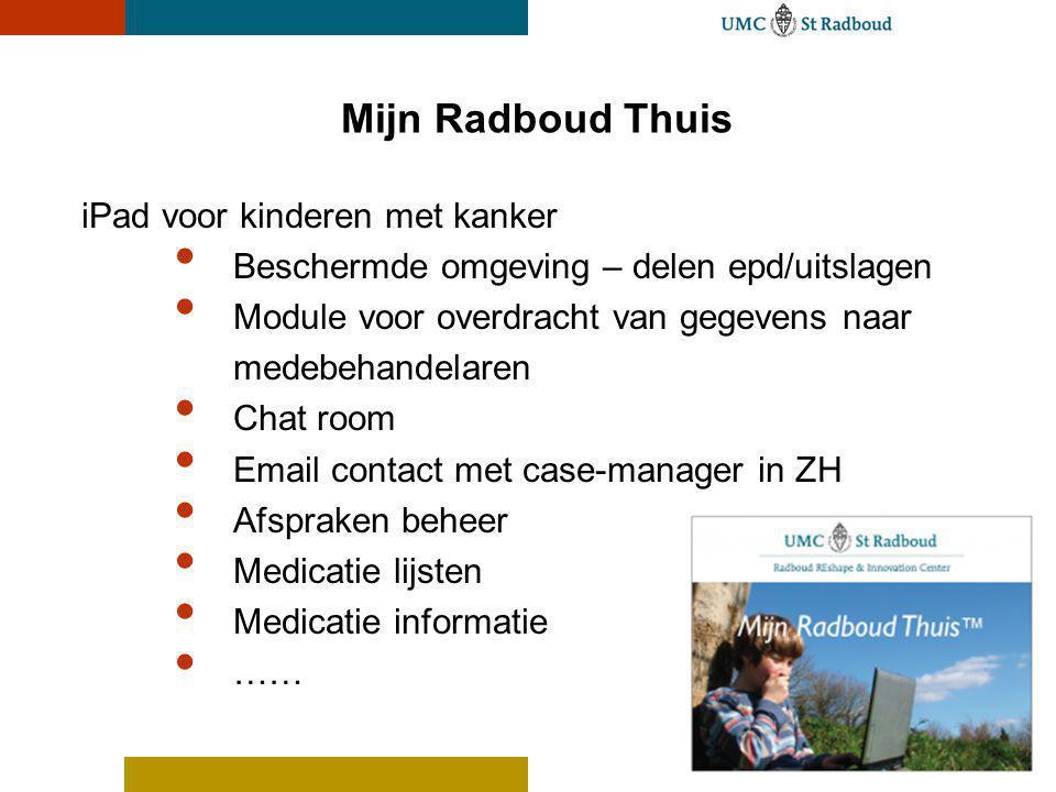 Mijn Radboud Thuis iPad voor kinderen met kanker