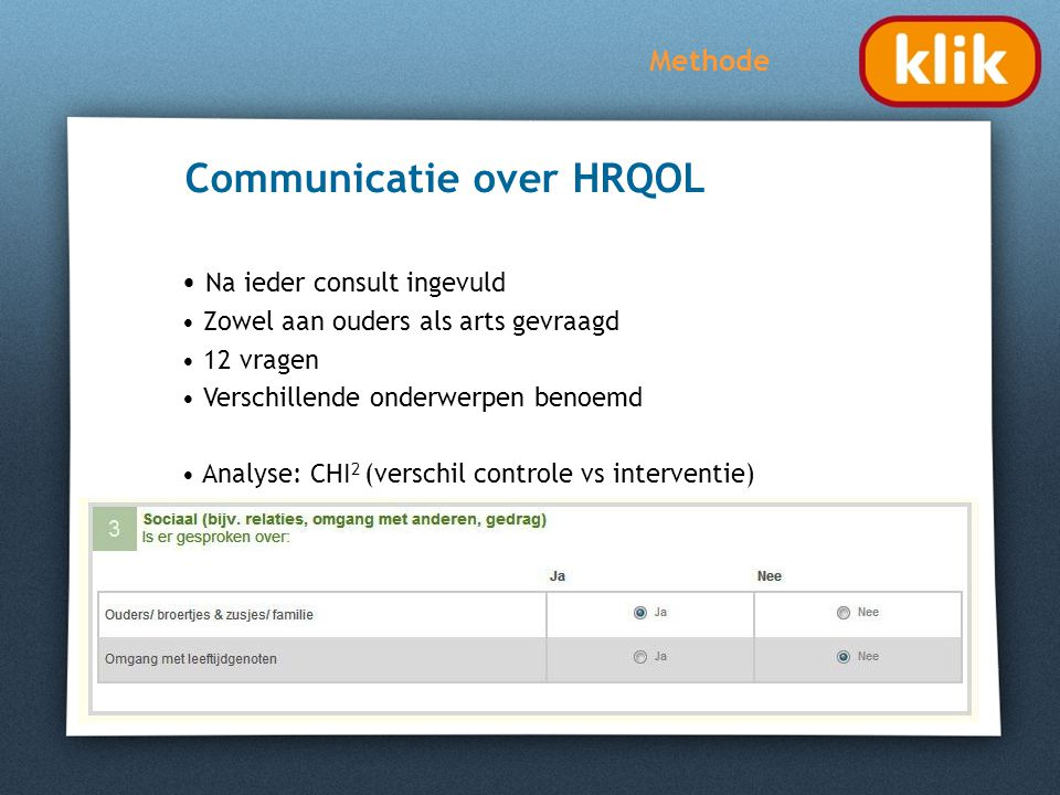 Communicatie over HRQOL