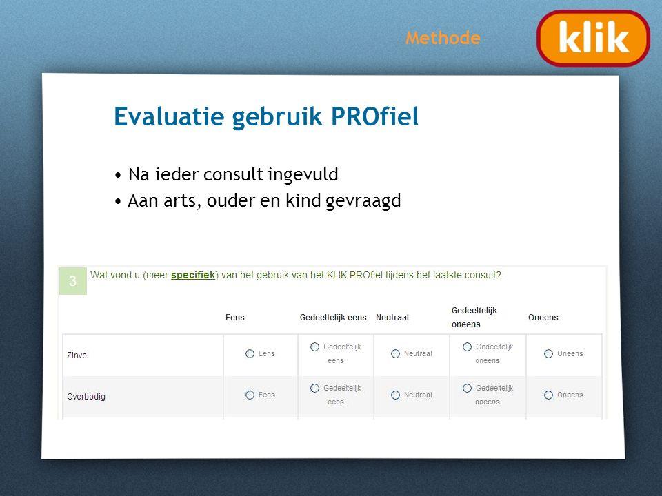 Evaluatie gebruik PROfiel