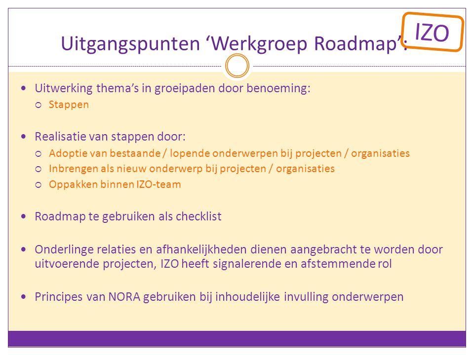 Uitgangspunten 'Werkgroep Roadmap':