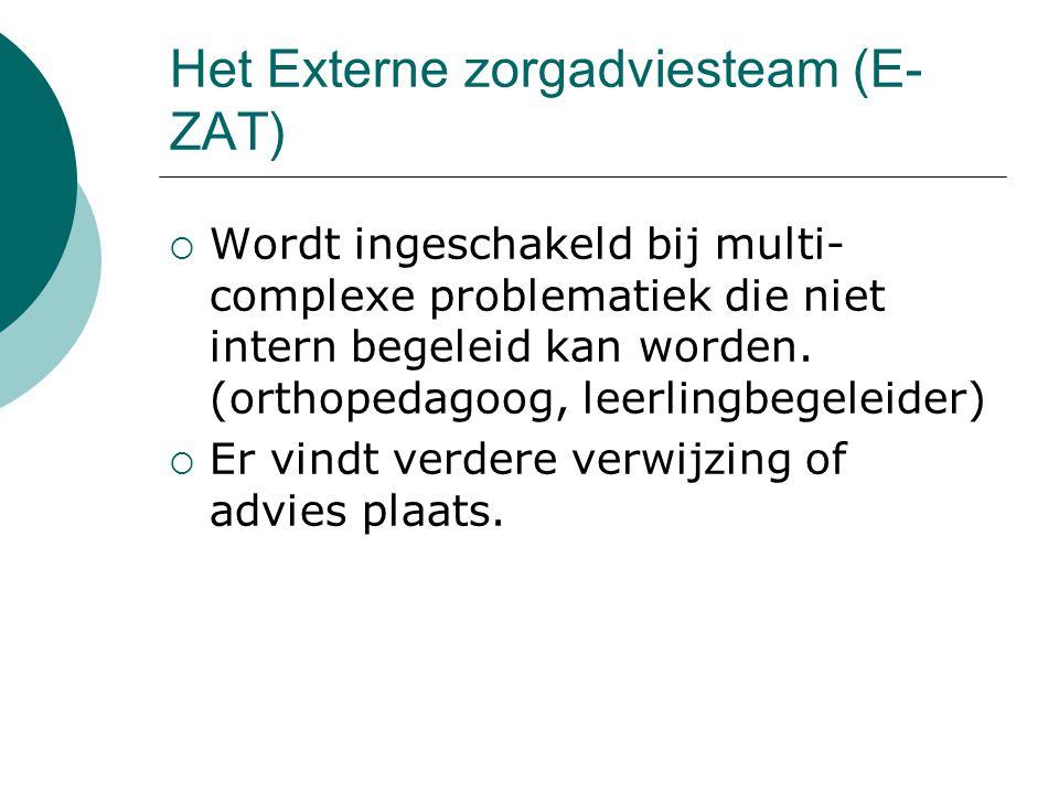 Het Externe zorgadviesteam (E-ZAT)