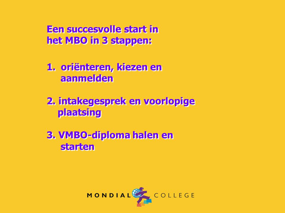 Een succesvolle start in