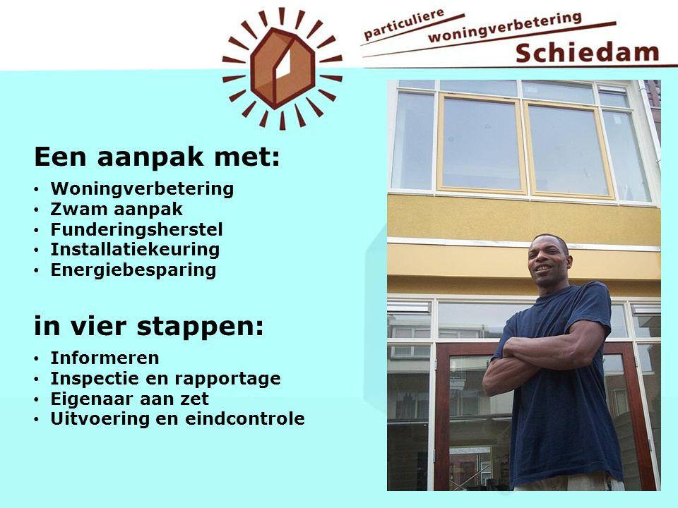 Een aanpak met: in vier stappen: Woningverbetering Zwam aanpak