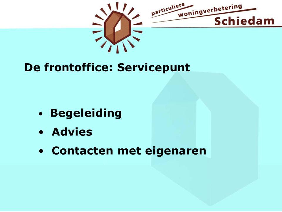 De frontoffice: Servicepunt