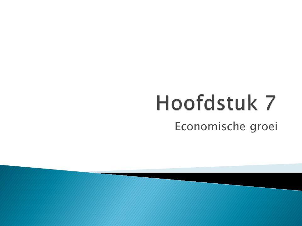 Hoofdstuk 7 Economische groei