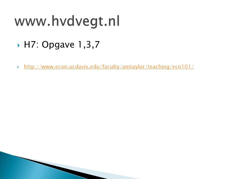 www.hvdvegt.nl H7: Opgave 1,3,7