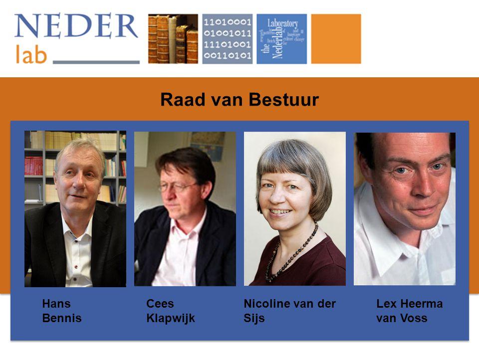 Raad van Bestuur Hans Bennis Cees Klapwijk Nicoline van der Sijs