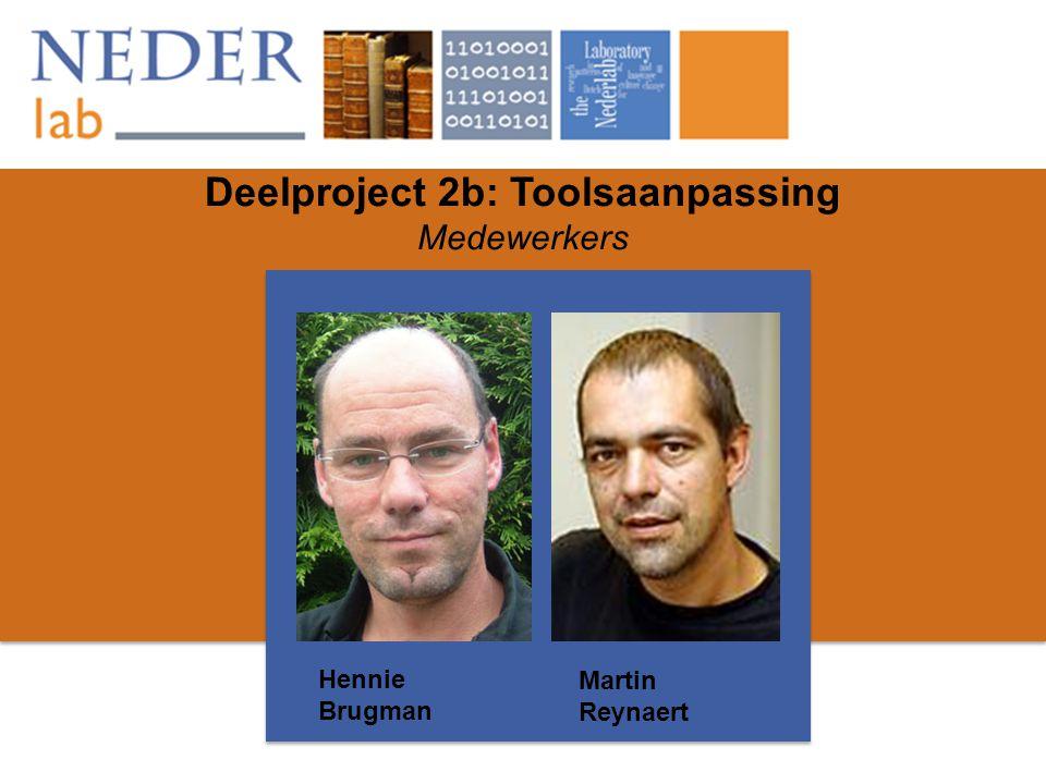Deelproject 2b: Toolsaanpassing Medewerkers