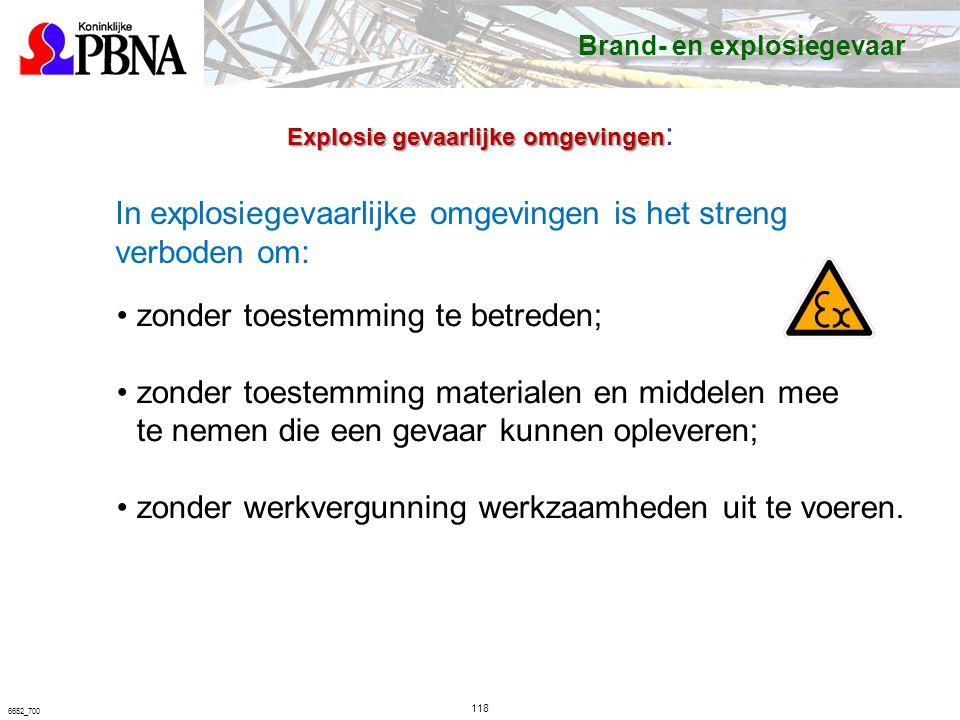 In explosiegevaarlijke omgevingen is het streng verboden om: