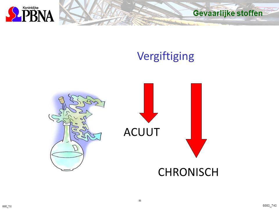 Vergiftiging ACUUT CHRONISCH Gevaarlijke stoffen Basisveiligheid VCA