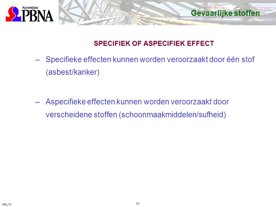SPECIFIEK OF ASPECIFIEK EFFECT