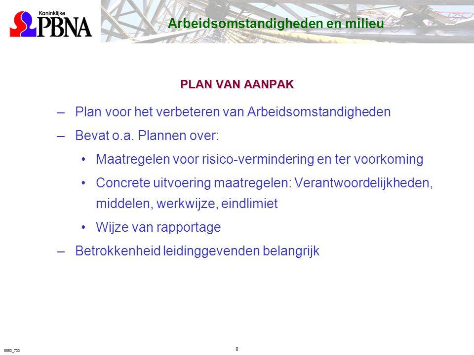 Plan voor het verbeteren van Arbeidsomstandigheden
