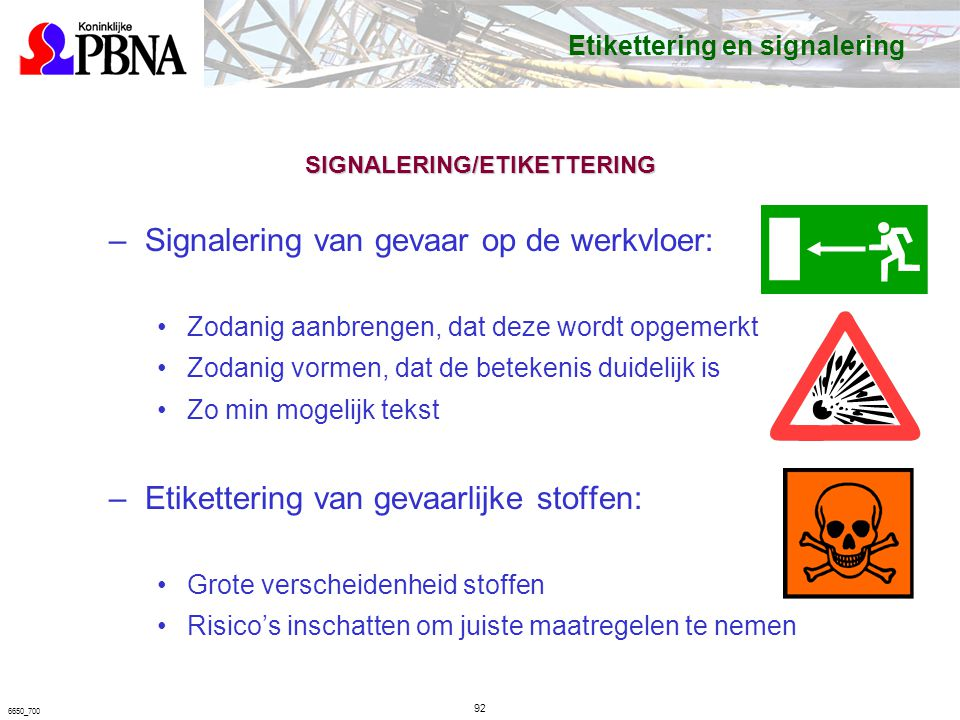 SIGNALERING/ETIKETTERING