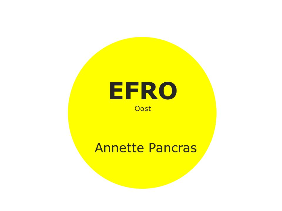 EFRO Oost Annette Pancras