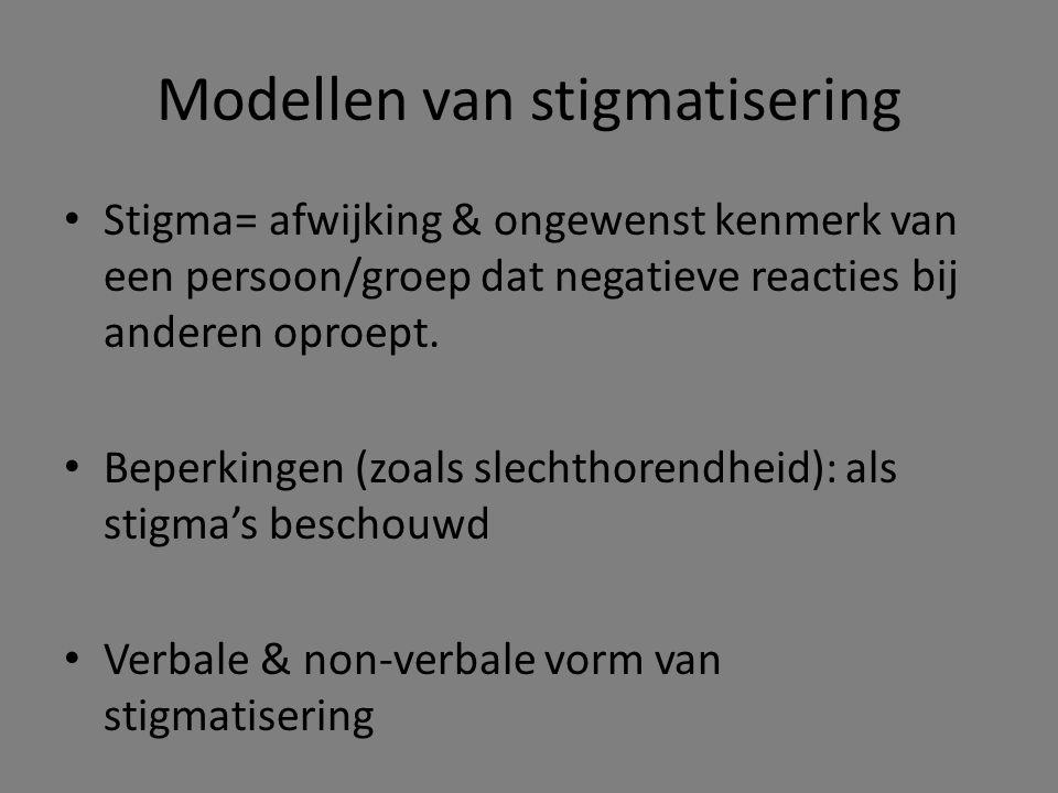Modellen van stigmatisering