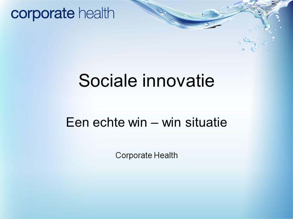 Een echte win – win situatie Corporate Health