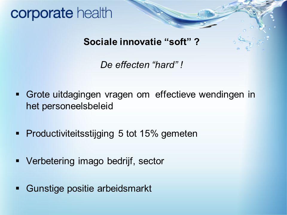 Sociale innovatie soft De effecten hard !