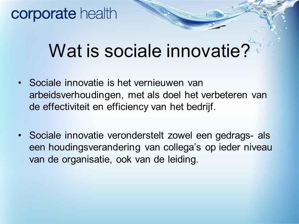 Wat is sociale innovatie