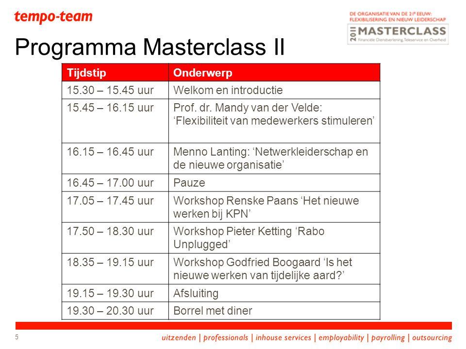 Programma Masterclass II