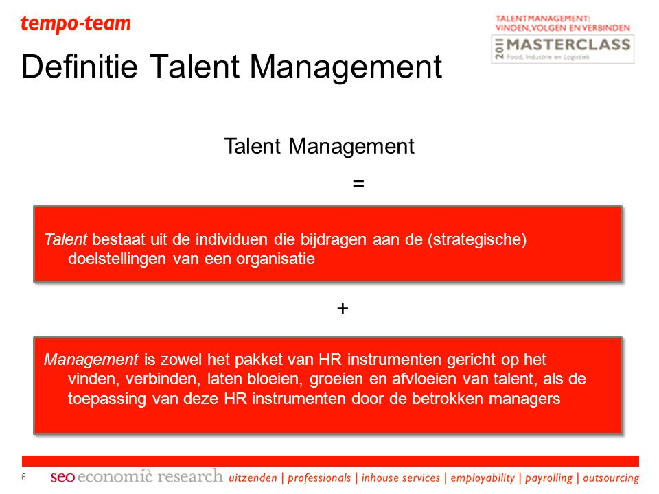Definitie Talent Management
