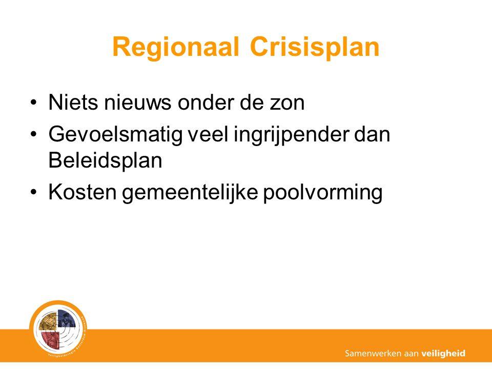Regionaal Crisisplan Niets nieuws onder de zon