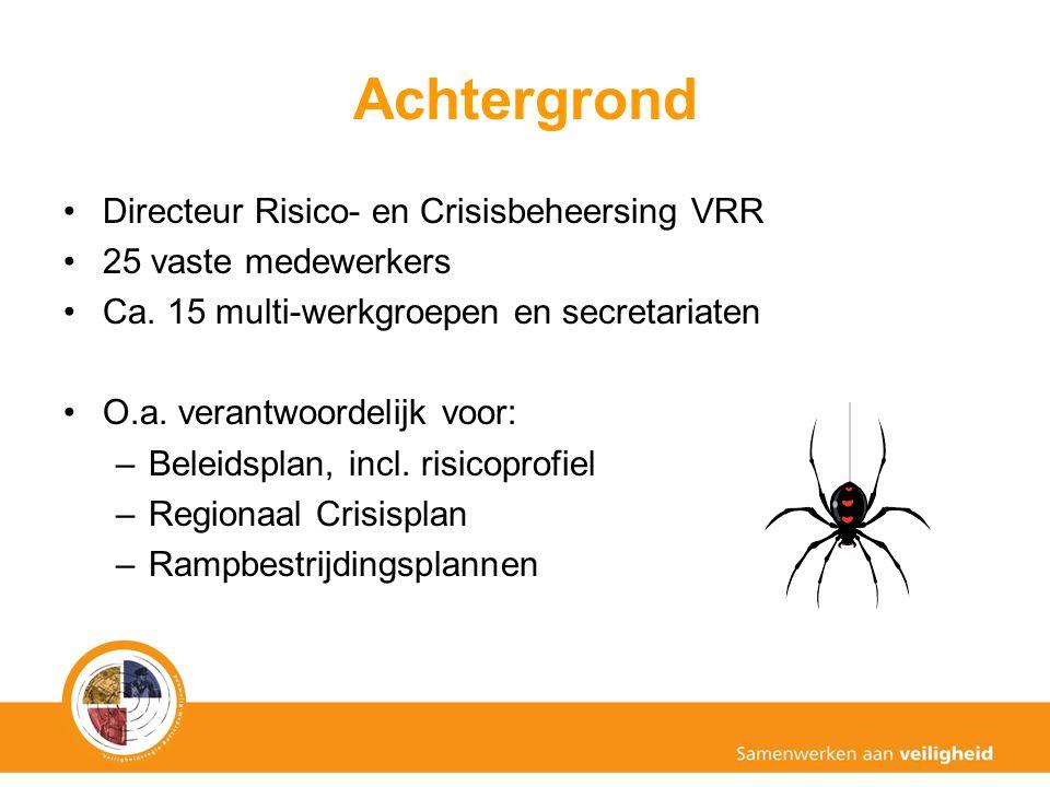 Achtergrond Directeur Risico- en Crisisbeheersing VRR