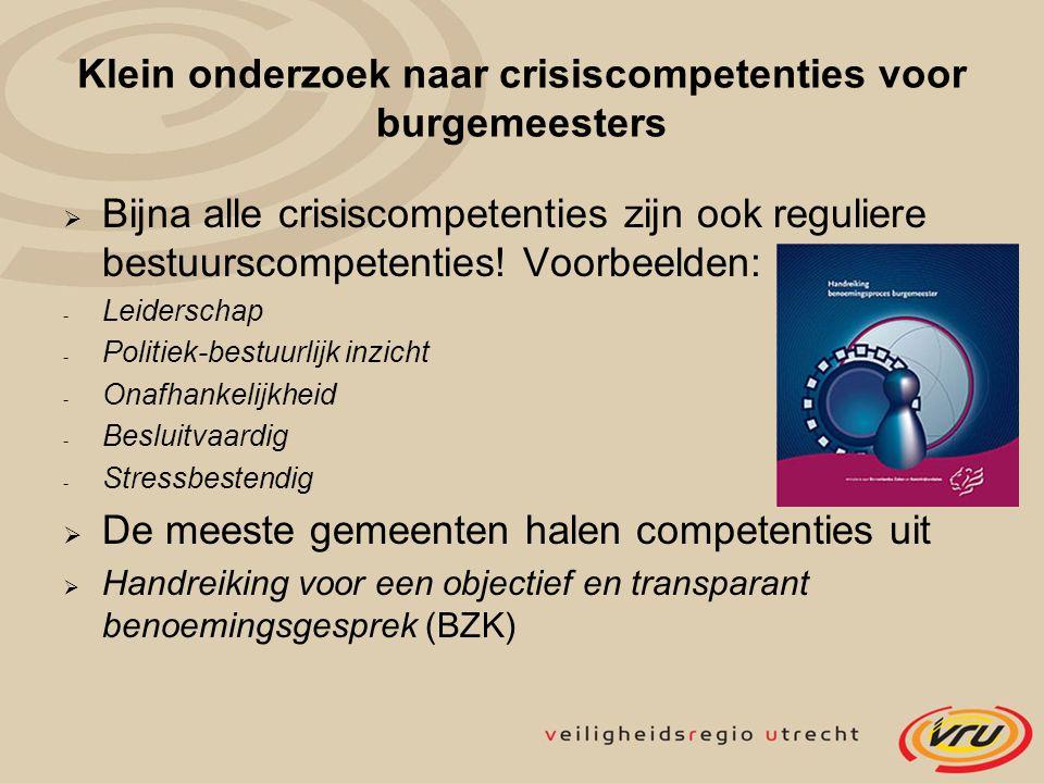 Klein onderzoek naar crisiscompetenties voor burgemeesters
