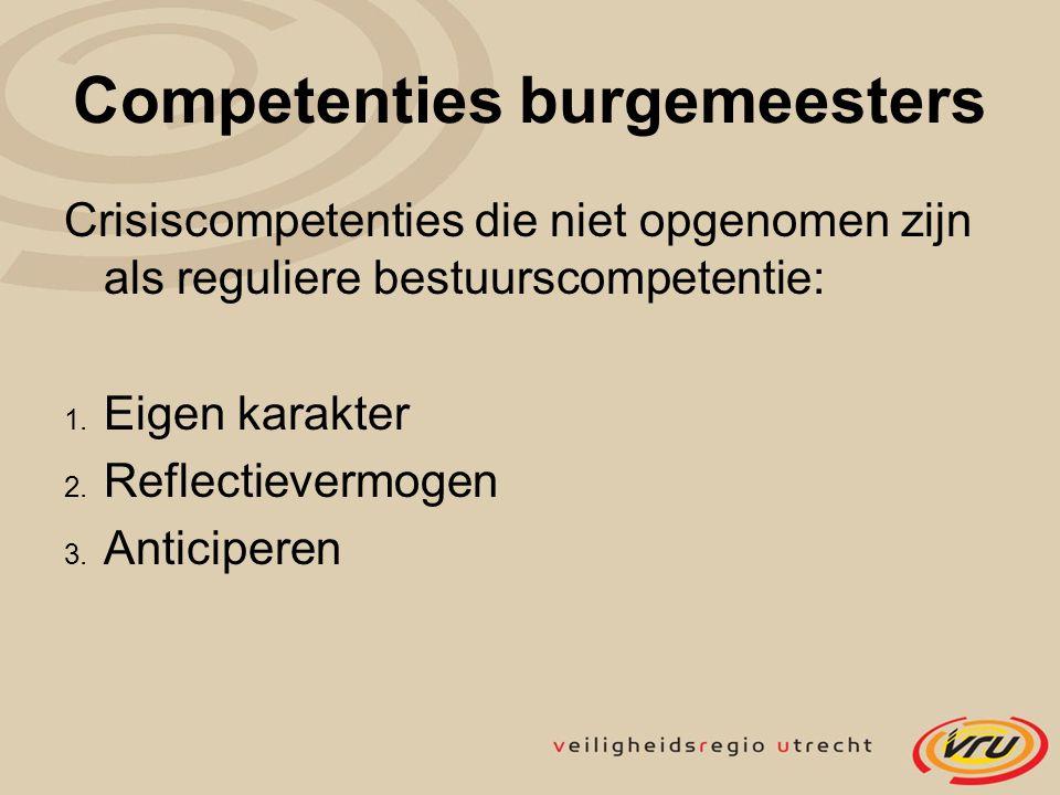 Competenties burgemeesters