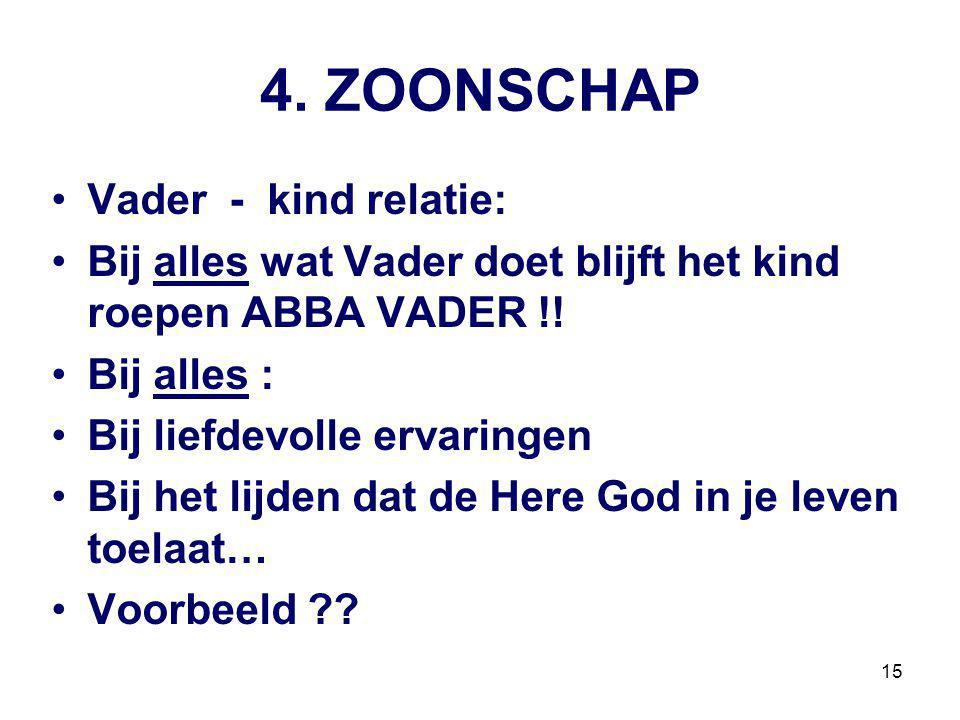 4. ZOONSCHAP Vader - kind relatie: