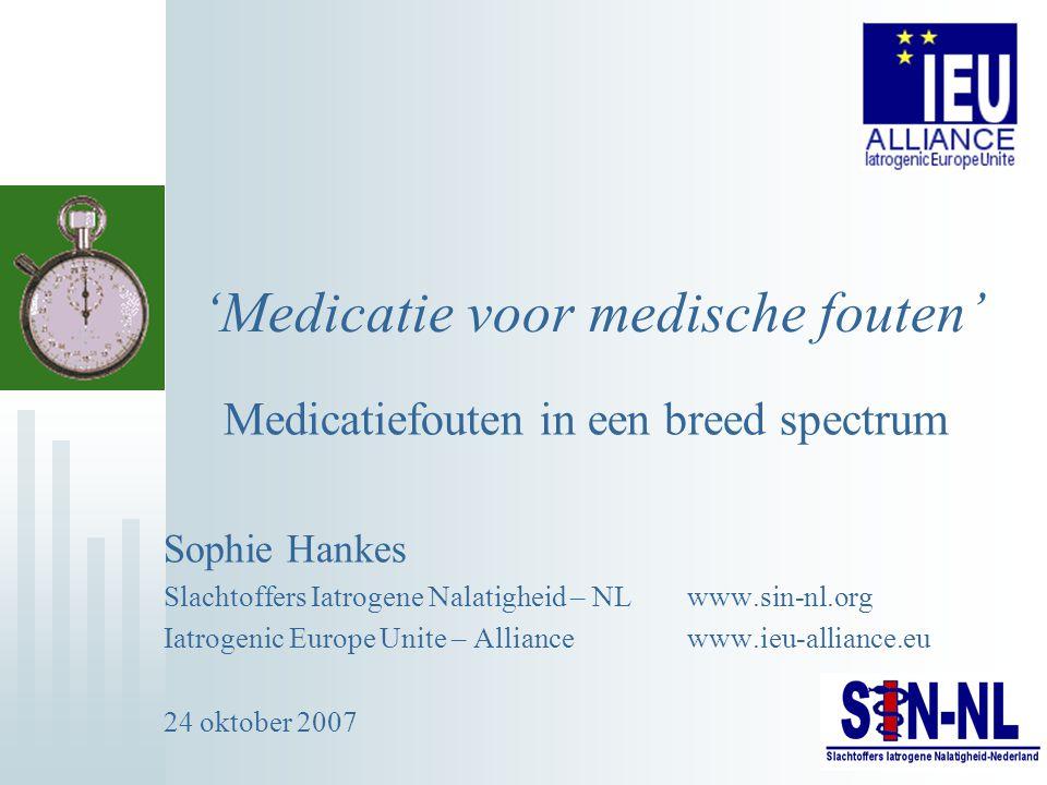 'Medicatie voor medische fouten'