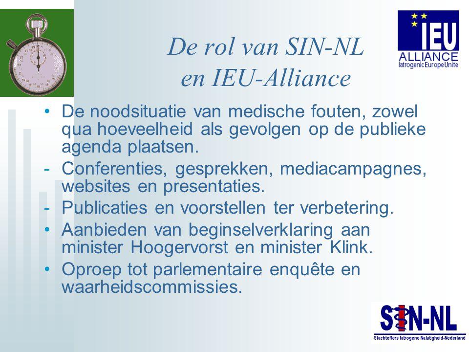 De rol van SIN-NL en IEU-Alliance