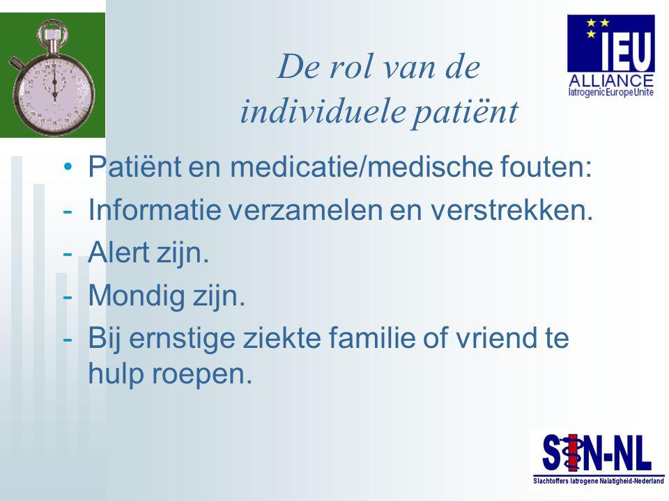De rol van de individuele patiënt