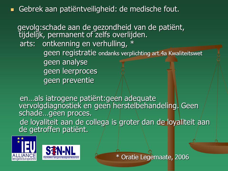 Gebrek aan patiëntveiligheid: de medische fout.