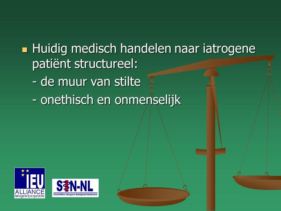 Huidig medisch handelen naar iatrogene patiënt structureel: