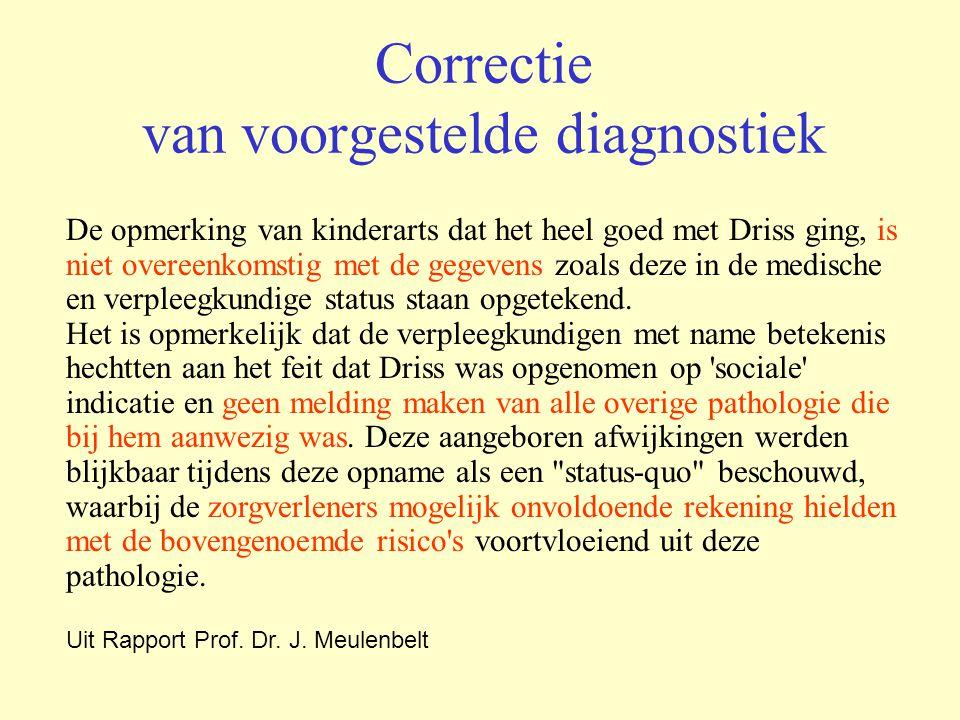 Correctie van voorgestelde diagnostiek