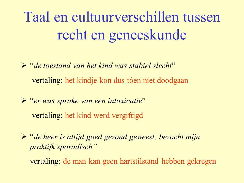 Taal en cultuurverschillen tussen recht en geneeskunde